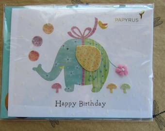 Papyrus cards etsy papyrus birthday card unused happy birthday card little girls birthday elephant card glitter card birthday greeting card elephant m4hsunfo