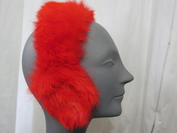 Fur Ear Muffs - RED Rabbit Fur Ear Muffs Vintage … - image 5