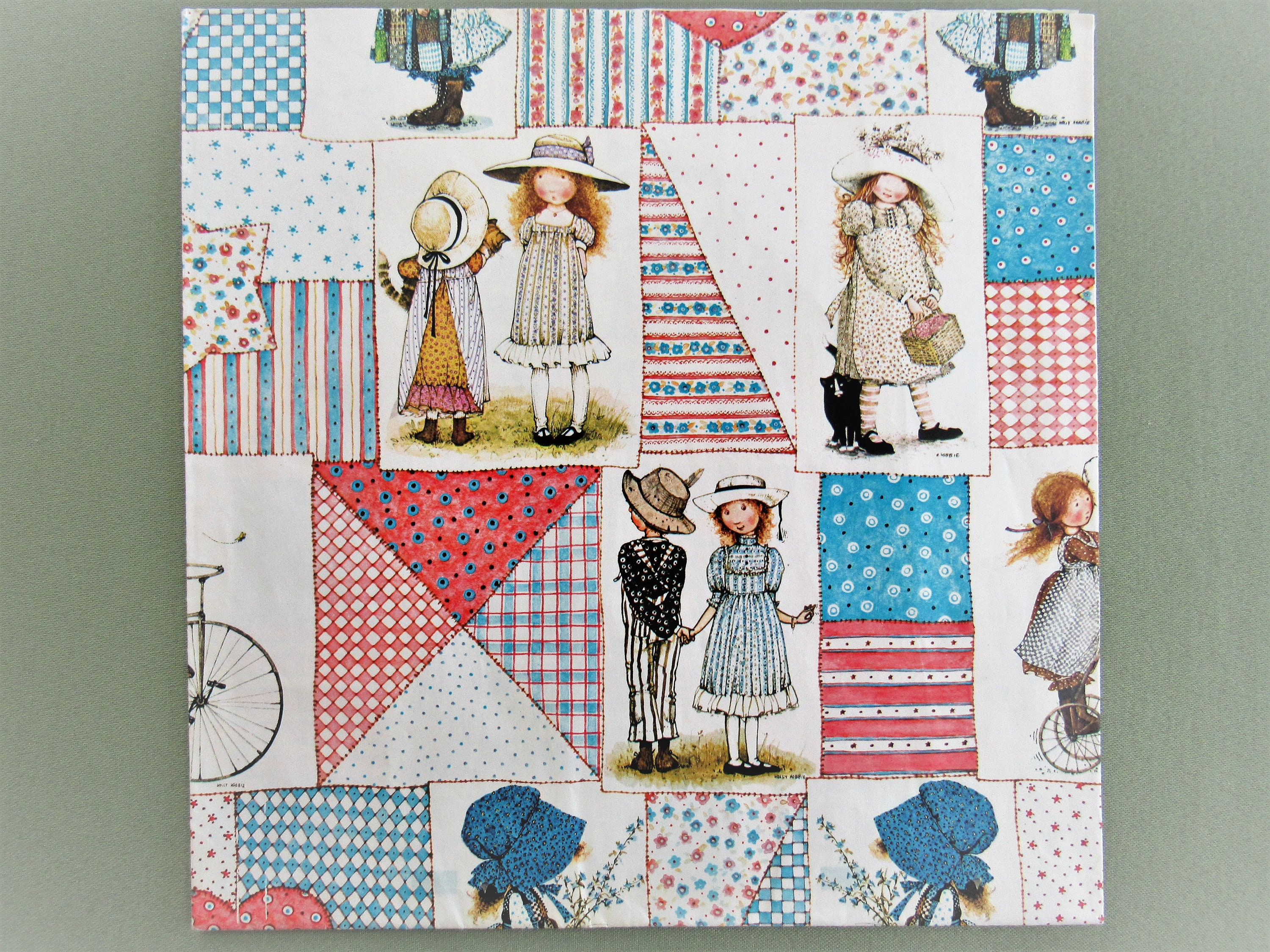 Holly Hobbie Gift Wrap Vintage Wrapping Paper American Greetings