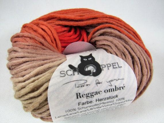 Felted Yarn Reggae Ombre Yarn Schoppel Wolle Yarn 100 Etsy