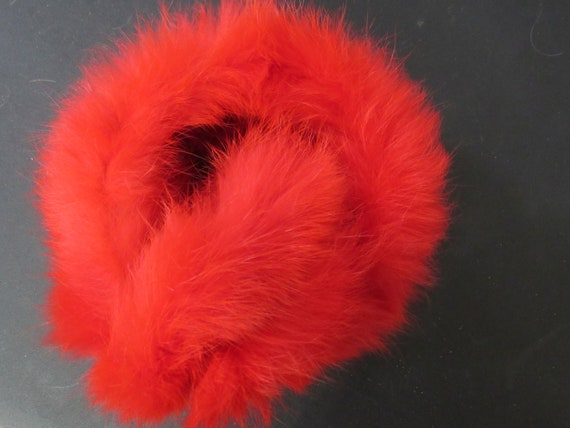 Fur Ear Muffs - RED Rabbit Fur Ear Muffs Vintage … - image 6