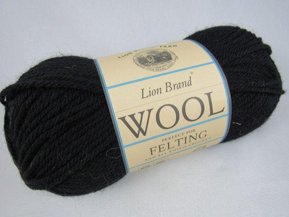 Ebony Yarn Lion Brand Wool Yarn 4 Ply Worsted Weight 100 Etsy