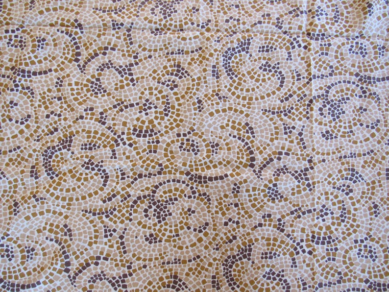 Novelty Fabric Vintage 1960s COBBLESTONE Yellow Brick Road Whimsical Cotton Fabric 37x 2-12yds Sewing Craft Clothing Children Quilting
