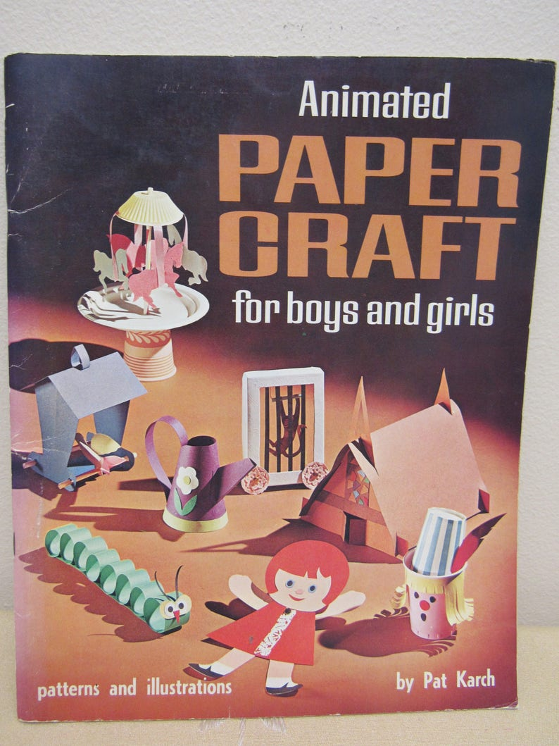 Vintage 1966 Unused Animated Paper Crafts For Boys Etsy
