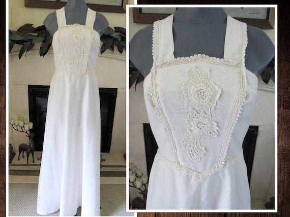 Summer Cotton Maxi Gown - Vintage 1970s Corky Crai