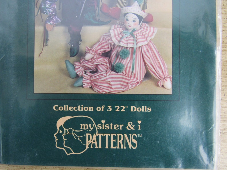 CLOWN Doll Pattern Plush Sewing Crafting Kid/'s Crafts SR 207 Sewing Kit Doll Making Kit Craft Kit CLOWNS My Sister /& I Patterns