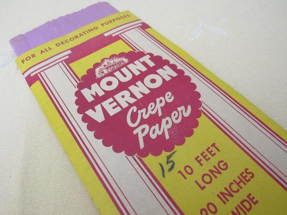 Vintage Unused Package Of Mount Vernon Crepe Paper Violet Etsy