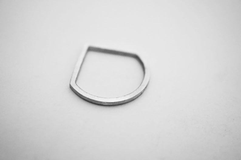 HOME ring  sterling silver  unisex image 0