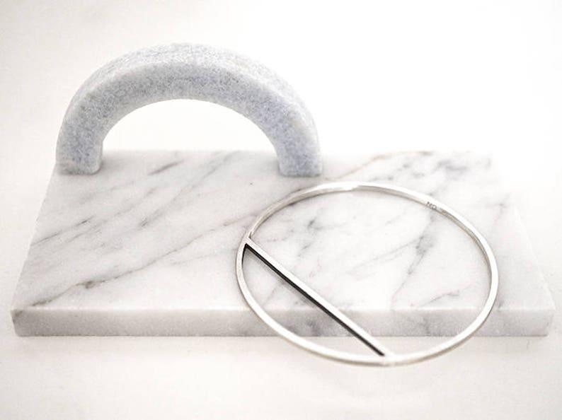 SHORTCUT bracelet  sterling silver or brass  unisex image 0