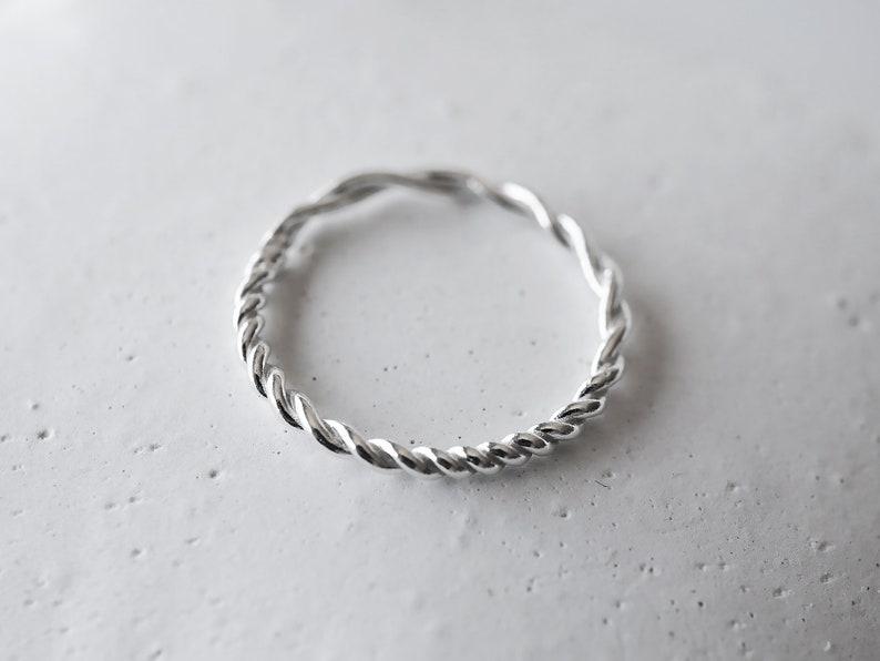 SWIRL ring  sterling silver image 0