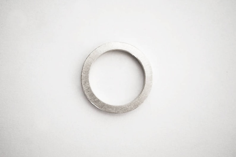 the O ring  unisex  sterling silver image 0