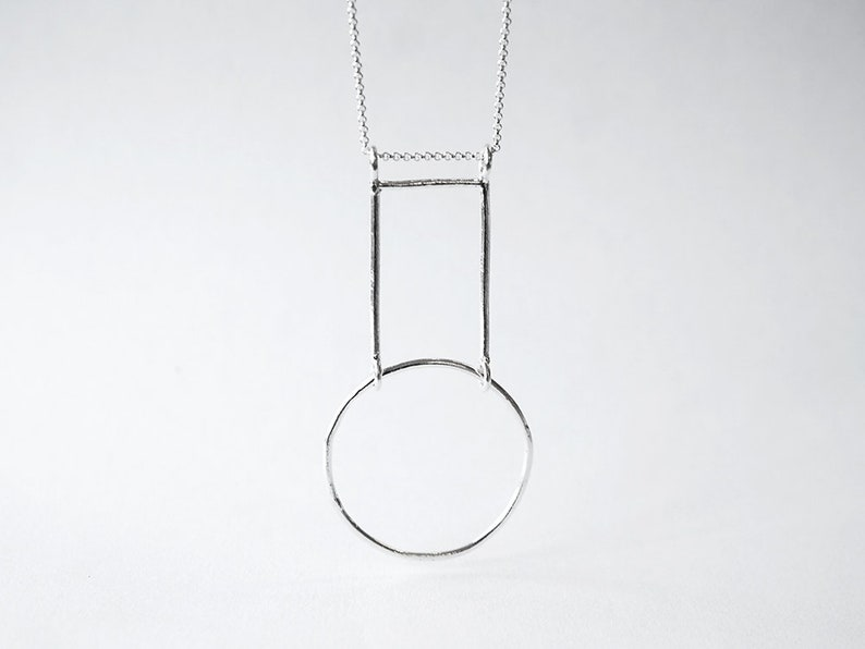 MOBILE pendant necklace  solid sterling silver image 0
