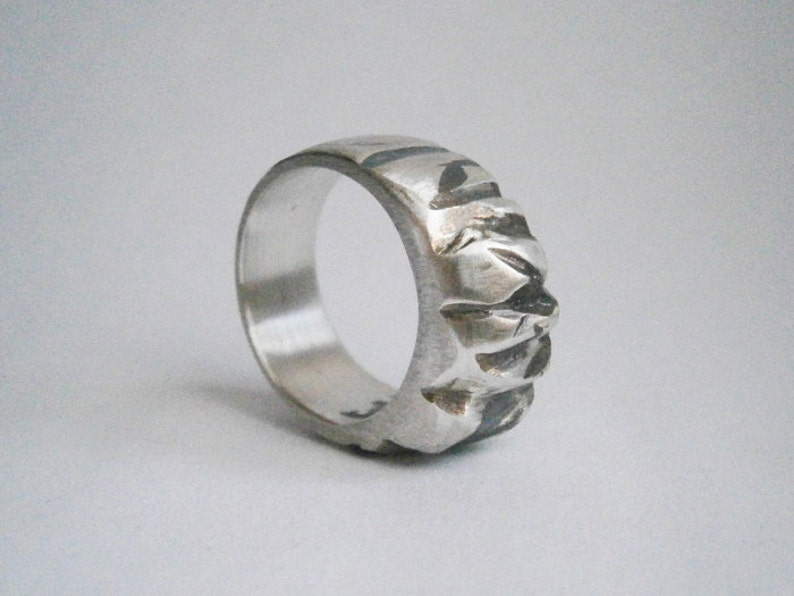 MOUNTAIN ring sterling silver or bronze image 0