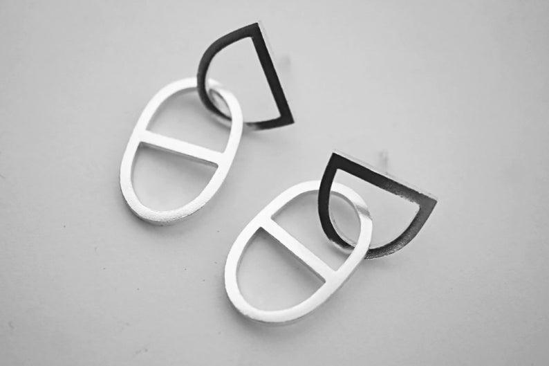 DOO earrings  sterling silver  pair image 0