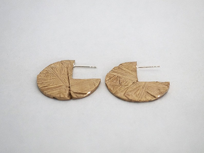 PACMAN earrings  sterling silver or bronze  image 0