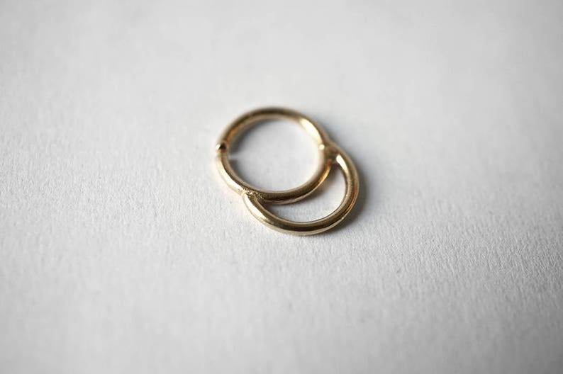 EMPTY SUNRISE septum ring  solid sterling silver or solid image 0