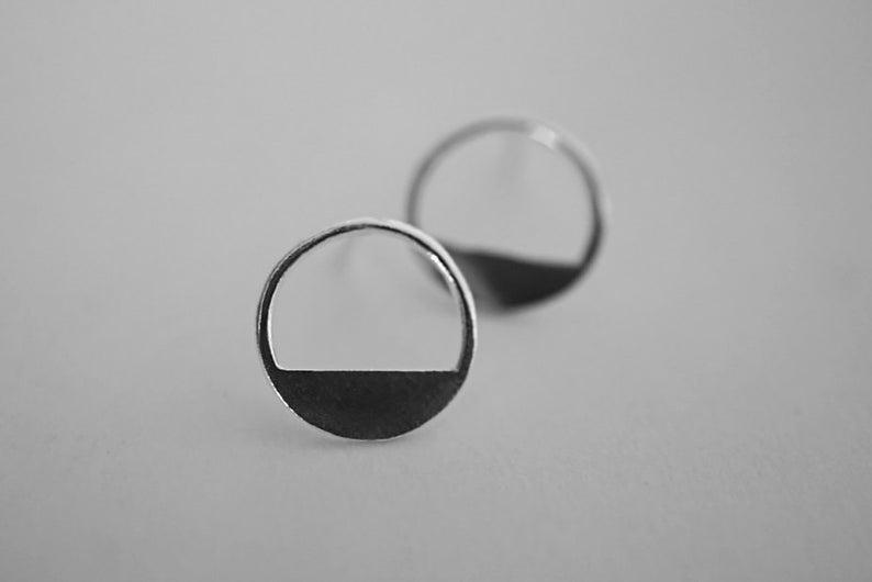 full SHORTCUT earrings  sterling silver  pair image 0