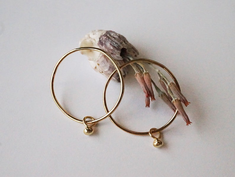 PEA earrings  sterling silver or gold plated  image 0
