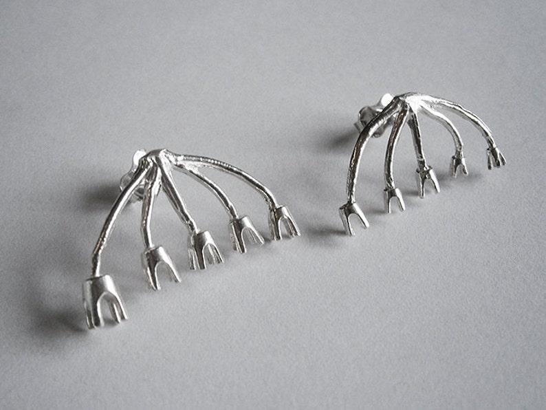 BRANCH earrings  sterling silver image 0