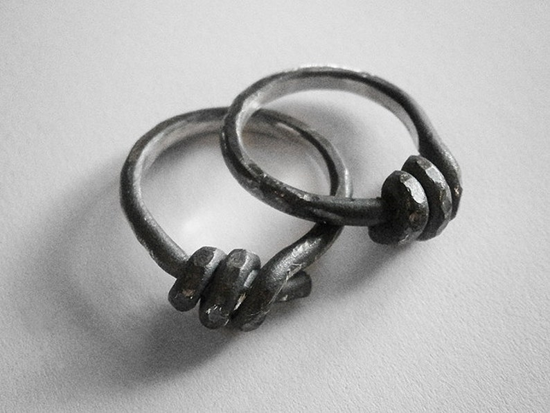 BARBED WIRE ring  sterling silver image 0