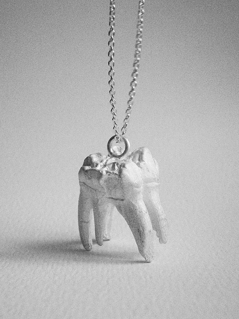 sterling silver TOOTH pendant sterling silver image 0
