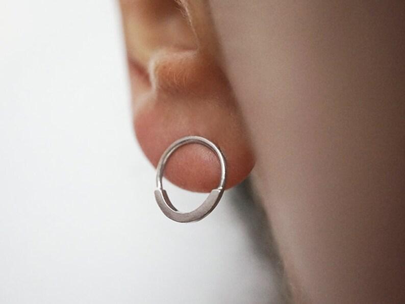 SMILE earrings  sterling silver  pair image 0