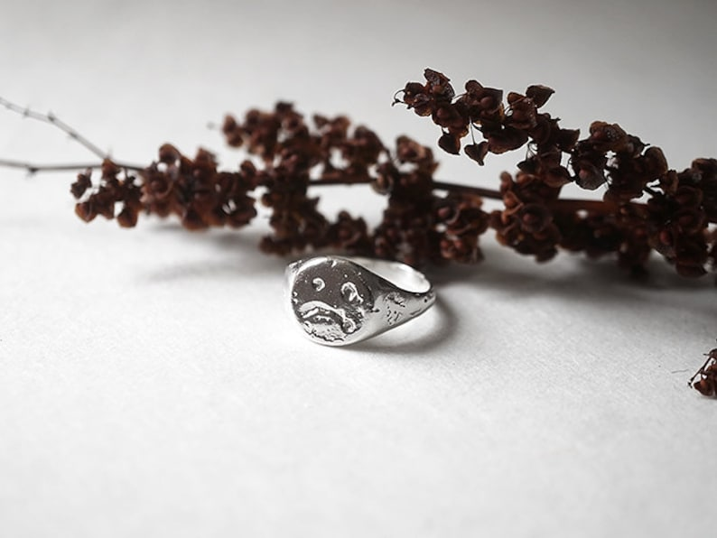 unisex sterling silver MELTED GRUMPY ring image 0
