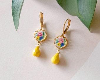 Yellow Earrings - Lemon Earrings - Citrus Earrings - Summer - Rosie II Earrings (SD1515)