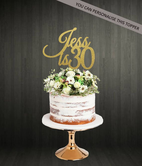 Birthday Cake Topper With Name