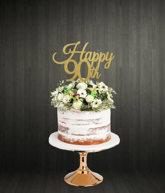 Cake Topper / 90th Birthday Cake Topper / 90th Cake Topper ...