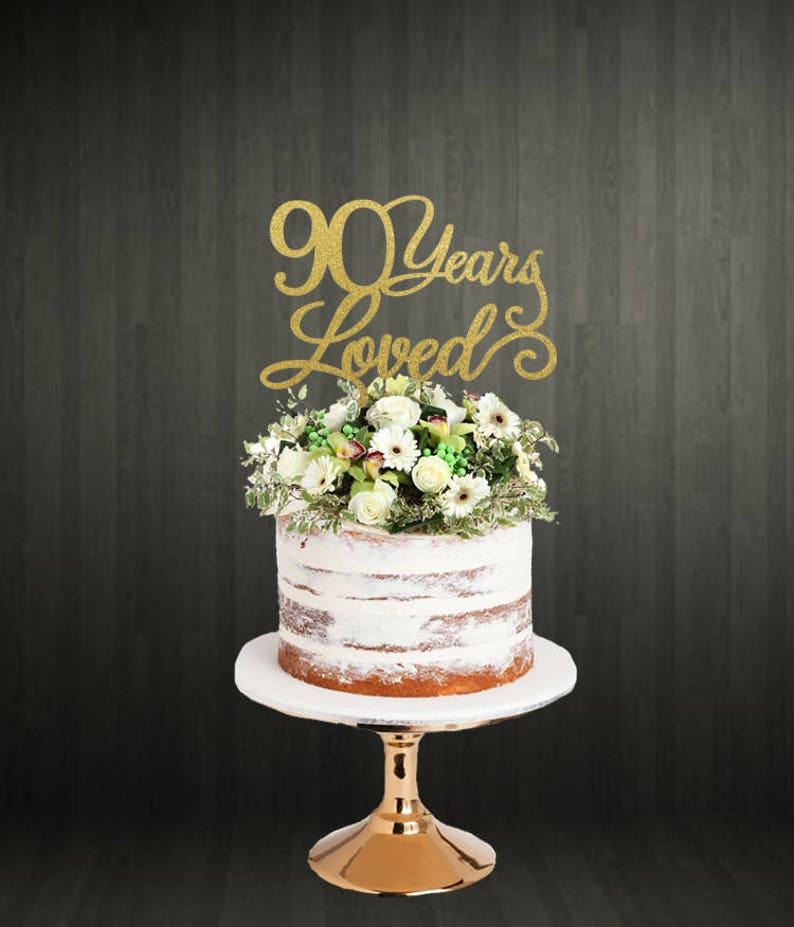 90th Birthday Cake Toppers Cake Toppers 90 Cake Topper 90