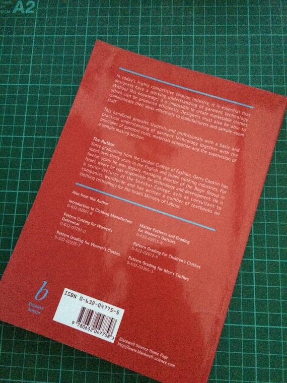 Garment Technology For Fashion Designers Book Gerry Cooklin Etsy