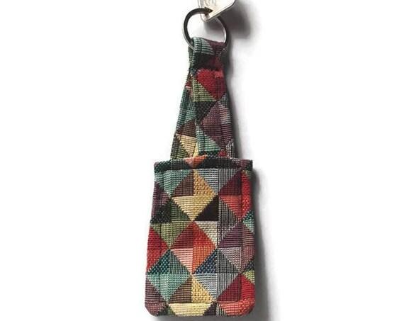 Tapestry Fabric Keyring, Split Ring Tapestry Fabric Keyfob