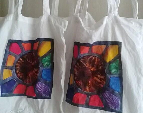 Solstice Sunburst Shoulder Bag, Eco Friendly Cotton Shopping Bag made to order