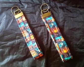 Halloween Wrist Strap Keyfob/Keychain, Handmade