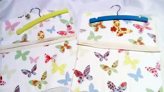 Butterfly Peg Bag, Lined Laundry Bag, made to order handmade in Yorkshire