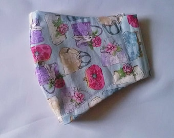 Handbags Face Mask Shaped Face Covering with filter pocket, washable cotton face covering ready to post, Hand Made in Yorkshire, UKUK
