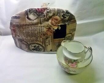 Tea Cosy, Rose Applique Tea Pot Cover, Housewarming Gift