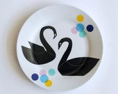 STOCK/SECONDS SALE Black swans plate