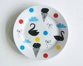 FINAL STOCK SALE! Illustrated breakfast plate Few of my favorite things