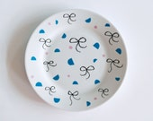 SALE! Bows and shapes breakfast plate