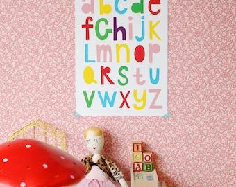 SALE! A3 size Poster Alphabet