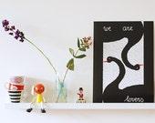 SALE! A3 size Poster Black swans