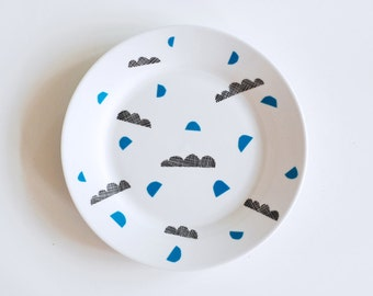 SALE! Waves and shapes breakfast plate