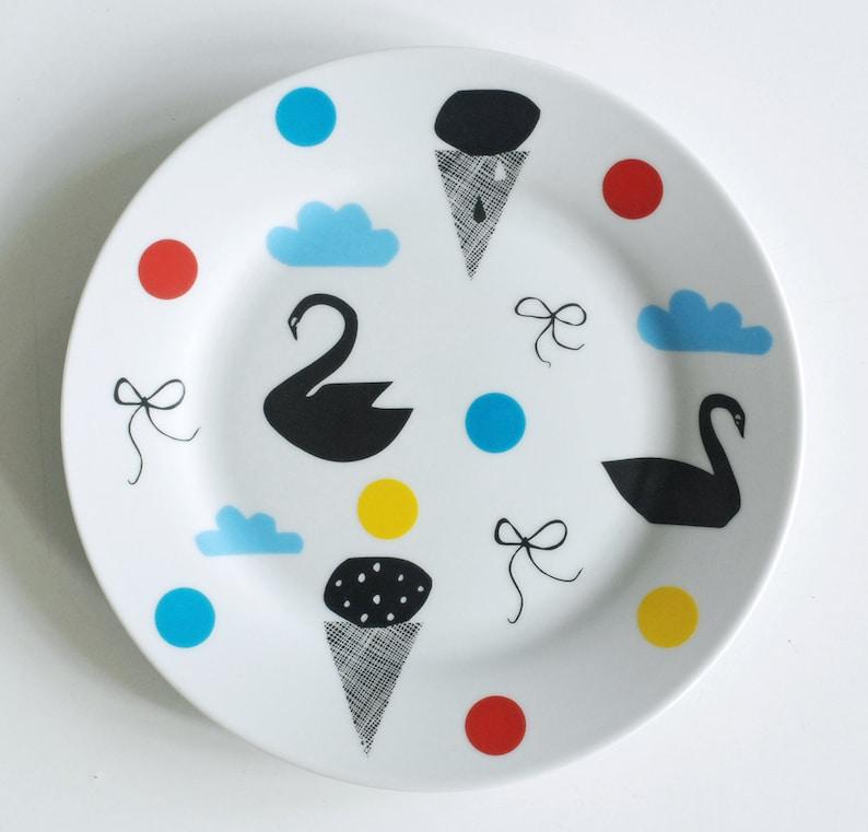 Illustrated breakfast plate Few of my favorite things FINAL STOCK SALE
