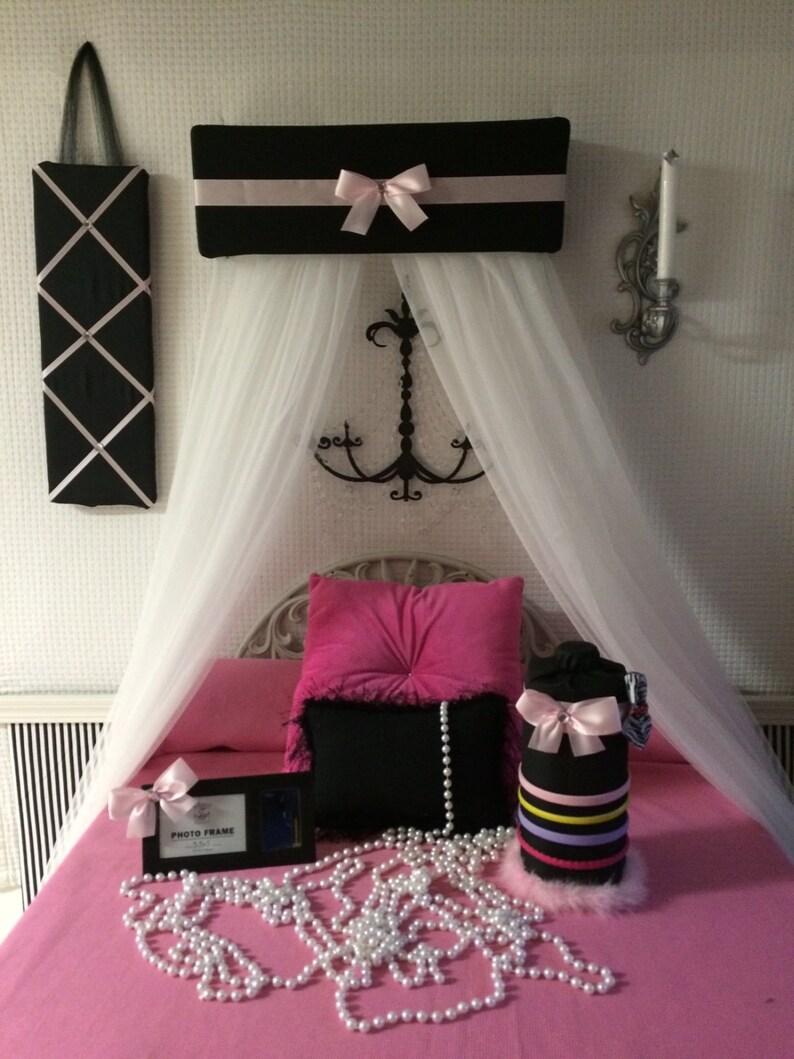 Bedroom set for Girls Bed Canopy Headband Hairbow Jewelery | Etsy