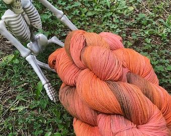 Be My Punkin - hand dyed new superwash Merino/nylon sock yarn, 420 yards 100 grams