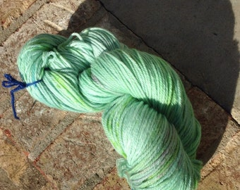 Not What I Mint - 13% off - NEW hand dyed 100 percent superwash Merino wool bulky yarn 137 yards