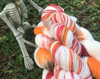 Annabelle - hand dyed new superwash Merino/nylon sock yarn, 420 yards 100 grams