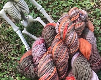 PumpkinHead - hand dyed new superwash Merino/nylon sock yarn, 420 yards 100 grams